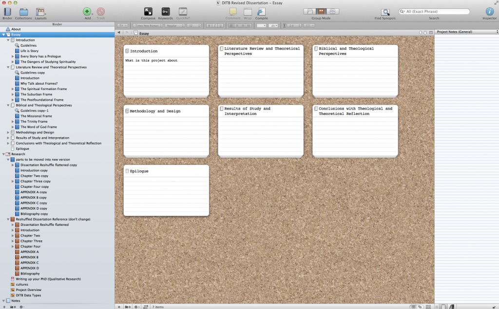 How Scrivener is Helping Me Rebuild My Dissertation