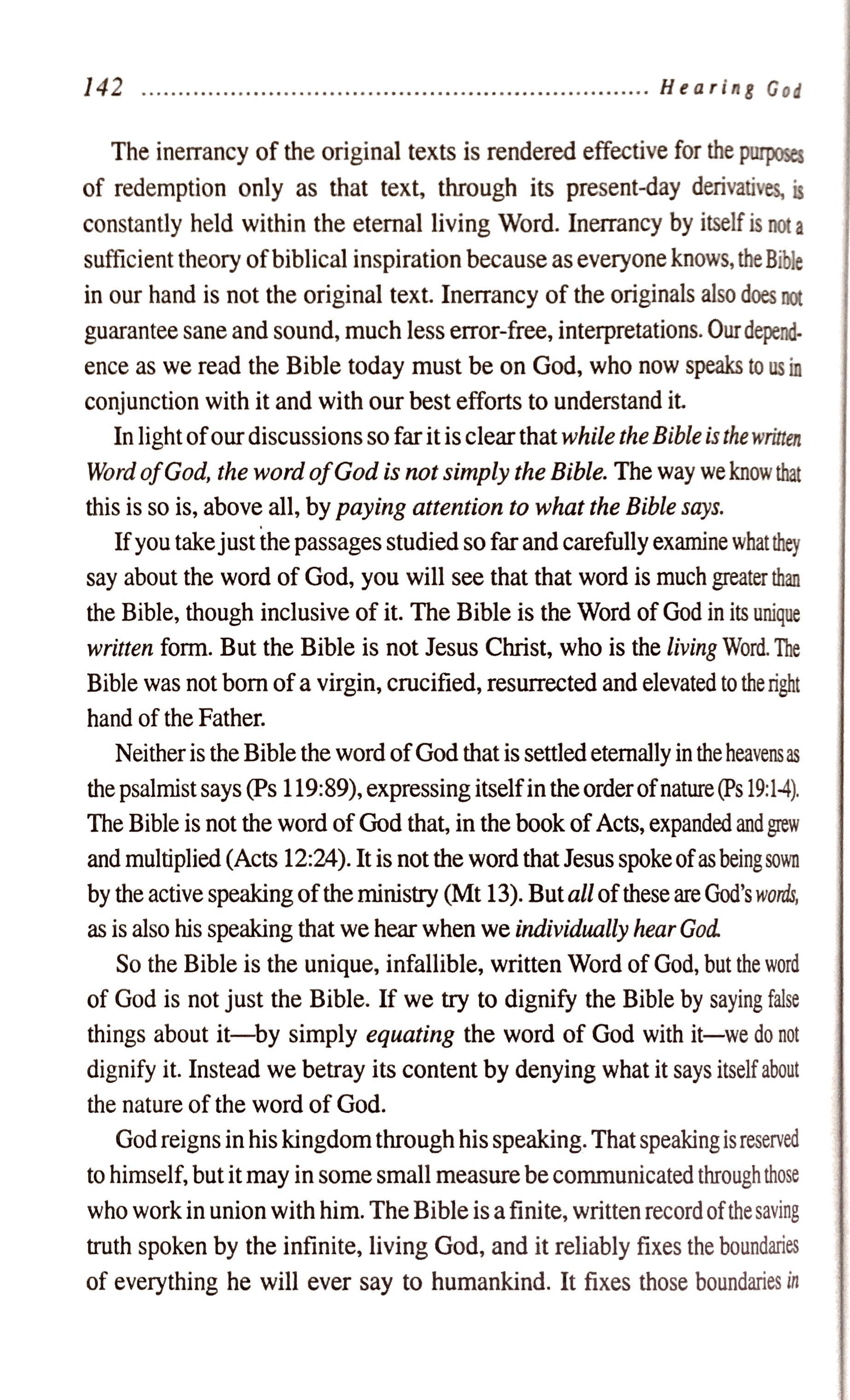 Willard on the word of God 2