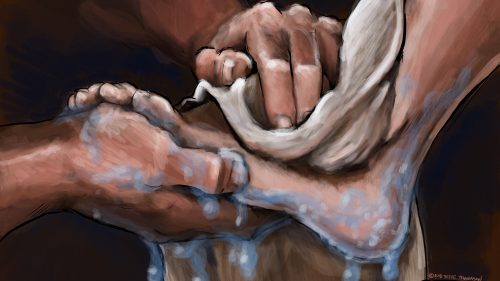 Jesus washes disciples feet thumbnail