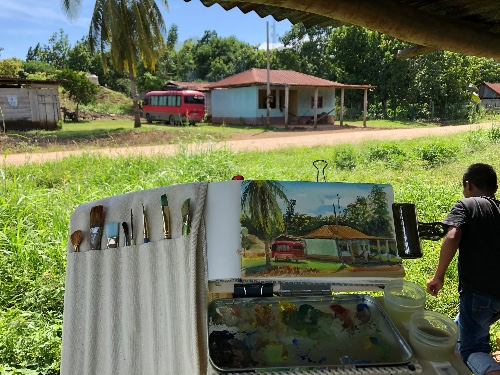Plen Air Painting in Guatemala