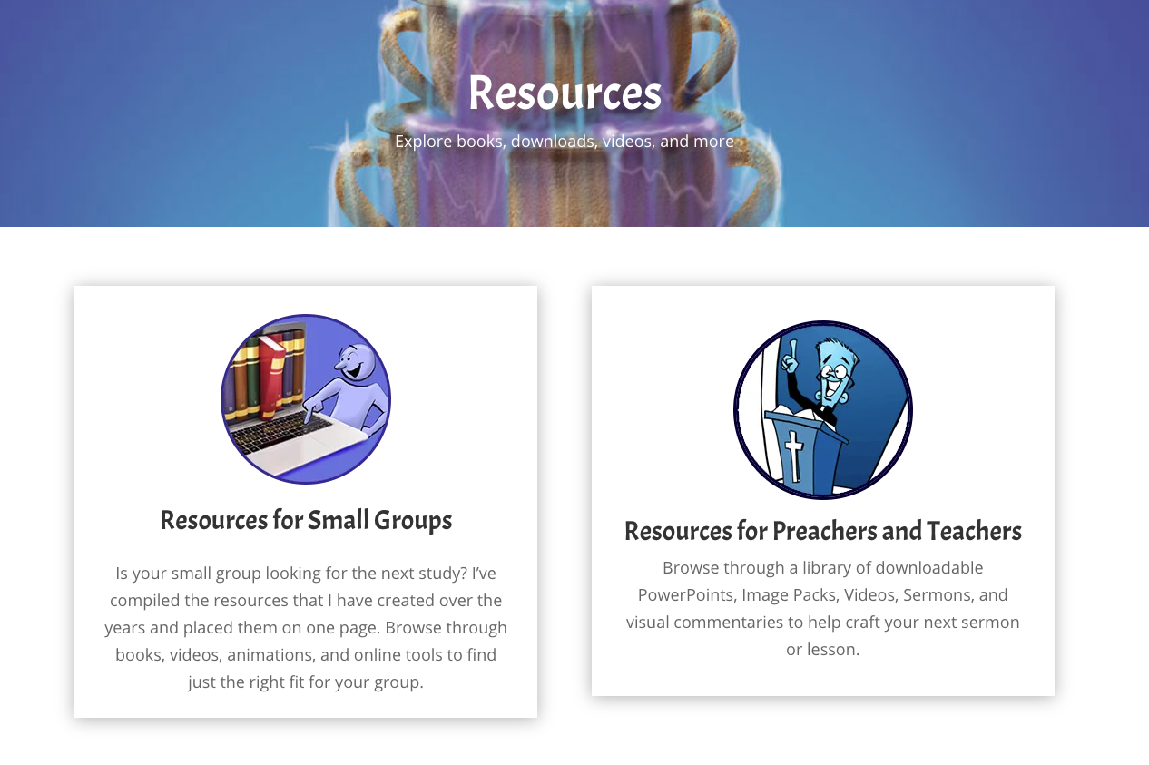 Resources for Small Groups and Preachers